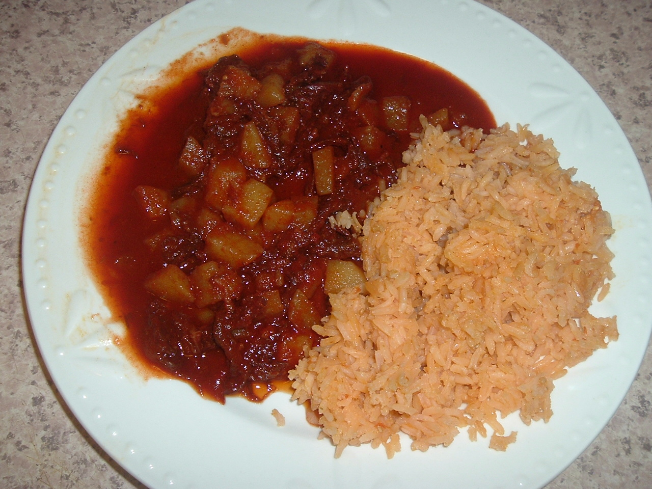 Chile colorado con carne